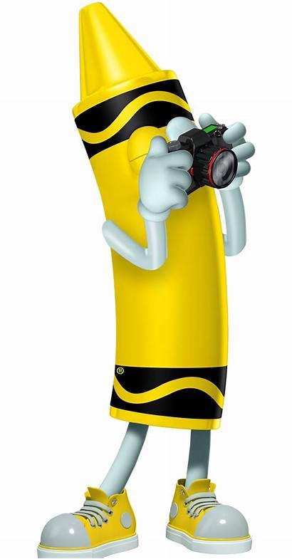 Crayon Cartoon Yellow Character Crayola Experience Clip