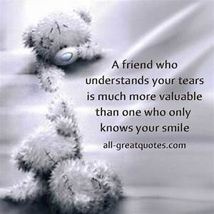 Friendship Quotes Tear. QuotesGram