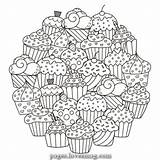 Coloring Muffins Candy Lovesmag Magical Sweet sketch template