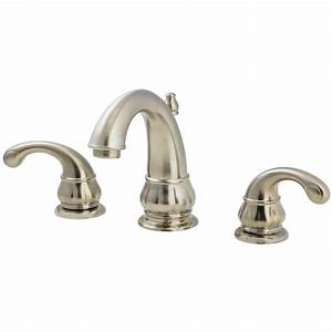 pfister treviso brushed nickel 2 handle widespread With how to remove a price pfister bathroom faucet