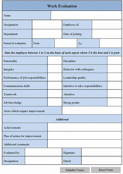 Evaluation Form Editable Forms Ms