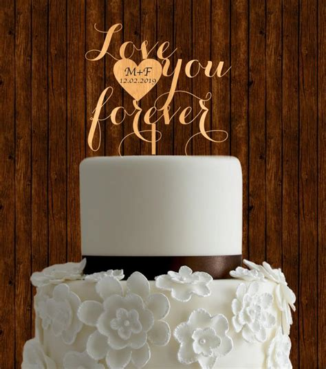 rustic cake topper wedding cake topper wood cake topper unique cake topper initial cake