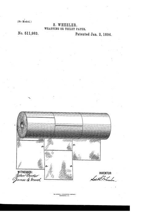 invention du papier toilette le brevet du papier toilette