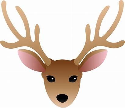 Deer Head Silhouette Clipart Antlers Wide Clipartmag