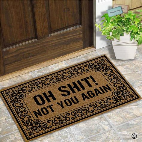you again doormat doormat entrance floor mat oh not you again mat