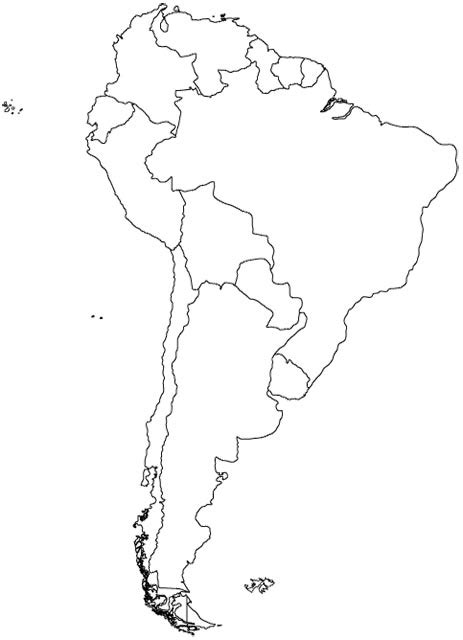 south america map map  south america maps