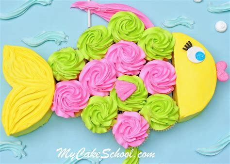 Small Home Kitchen Design Ideas - fish cupcake cake a blog tutorial my cake school