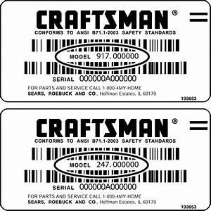 Craftsman Model 917 289280 Wiring Diagram