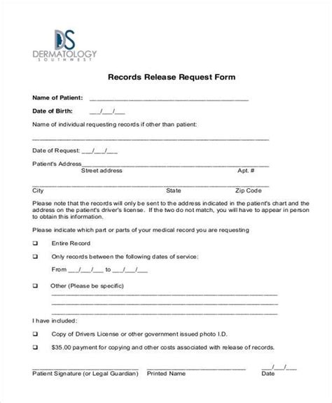 generic release forms