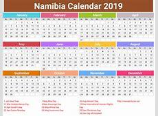 annual Namibia Calendar 2019 printcalendarxyz