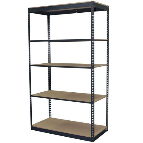home depot garage shelves gladiator 73 in h x 77 in w x 24 in d 4 shelf welded