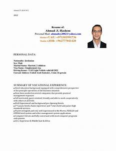 ahmad hashem cv covering letter 201212 With what is a covering letter for cv