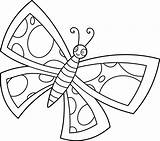 Clip Butterfly Butterflies Clipart Line Cute Coloring Cartoon Drawing Pages Cliparts Sweetclipart Funny Spotted Library Colorable Easy Transparent 2524 Clipartion sketch template