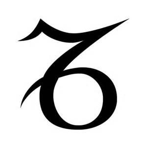 Symbol for Capricorn Zodiac Sign