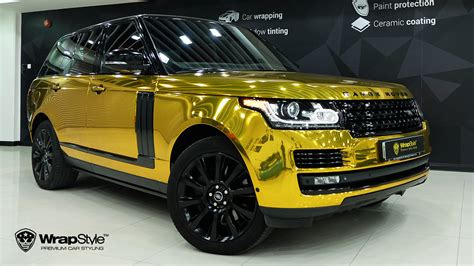 chrome range rover wrapstyle premium car wrap car foil dubai chrome