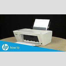 Printing A Test Page  Hp Deskjet 2540 Allinone Printer  Hp Deskjet  Hp Youtube