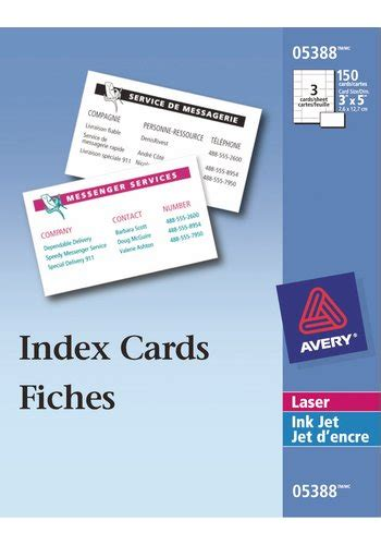 Avery Laser Inkjet Printers Index Cards White 150 Per Avery 174 Index Cards For Laser And Inkjet Printers 3 Quot X 5