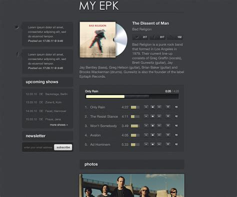 electronic press kit template my electronic press kit by therealthing themeforest