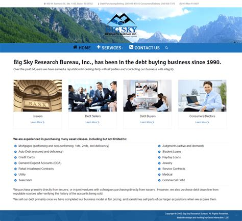 bureau large website redesign big sky research bureau oasis