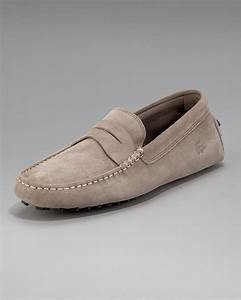Lacoste Concourse Suede Penny Driver, Light Brown in Brown ...