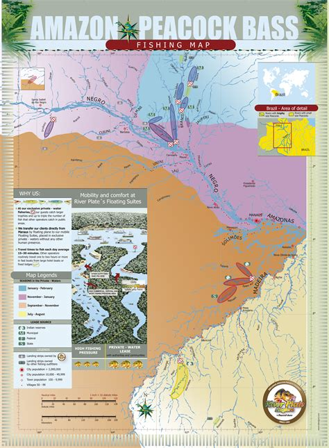 Amazon Fishery Map - River Plate Anglers