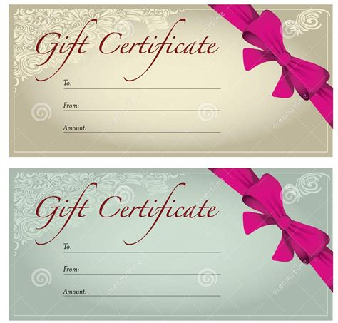 perfect format samples  gift voucher  certificate