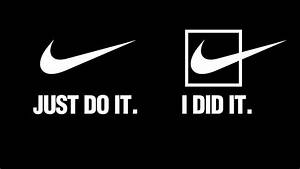 Black Background Brands Just Do It Nike Quotes Slogan ...