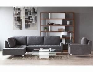 Miami grey sectional structube products new for Sectional couch miami