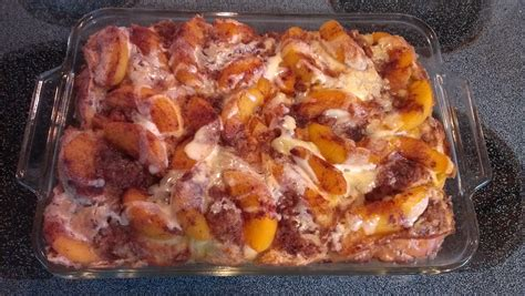Overnight Peaches Cream French Toast Bigoven
