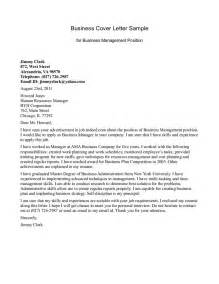 Business Cover Letter Sample