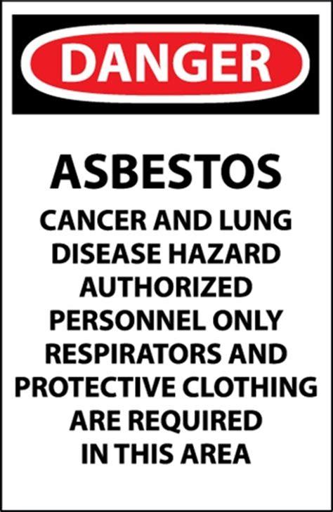 danger signs asbestos pack