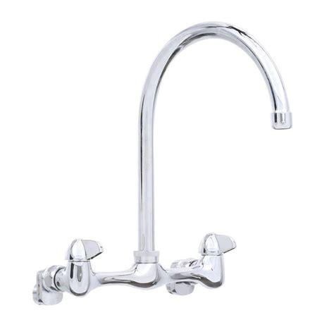 glacier bay wall mount sink glacier bay 2 handle wall mount high arc kitchen faucet in