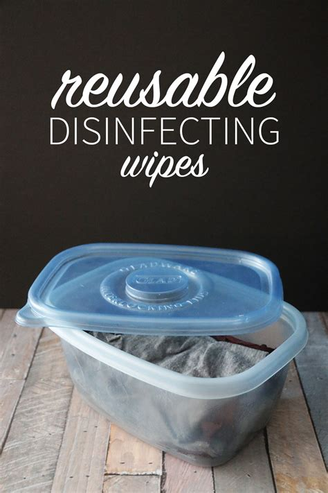 Easy Reusable Disinfecting Wipes DIY - Hello Nature