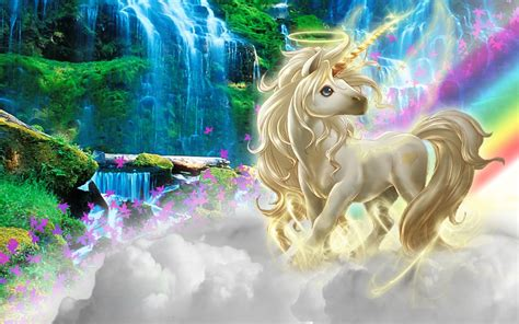 2560x1440 Unicorn Clouds Rainbow Nature Youtube Channel Cover
