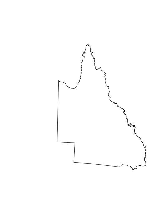 blank map  queensland