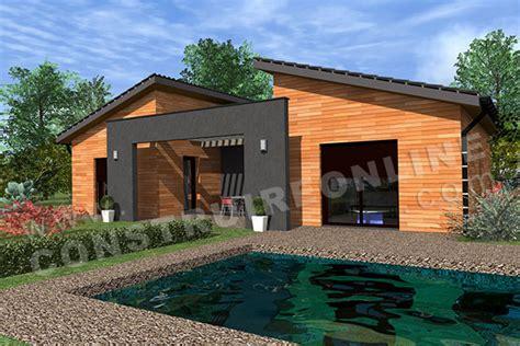 maison moderne en u vente de plan de maison d architecte