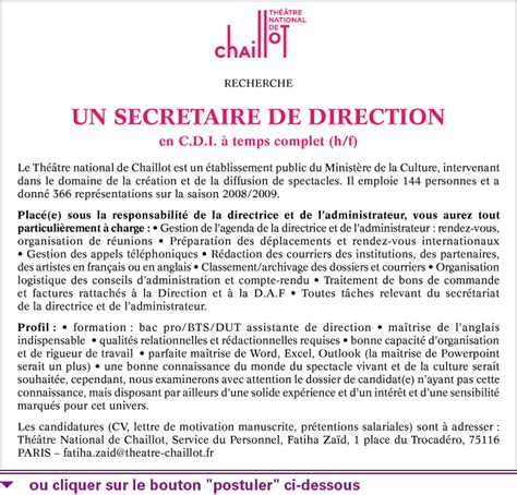 secr 233 taire de direction h f talents fr