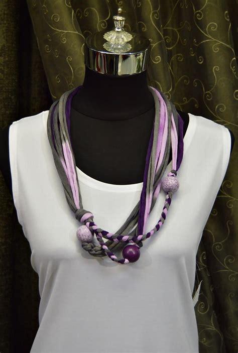 royal purple  shirt yarn necklace favecraftscom