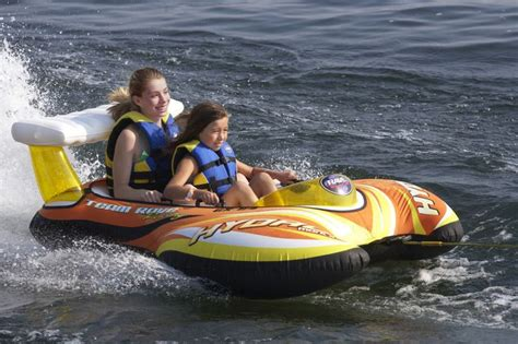 Boat Ride Fails by 2 Rider Towable Raft Boat Ride Tubing River