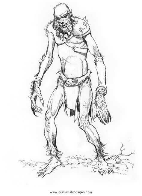 troll  gratis malvorlage  fantasie monster ausmalen