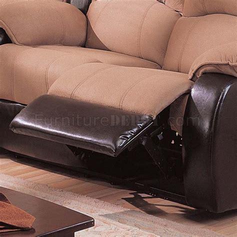 tone mocha dark brown modern reclining sectional sofa