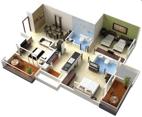 25 Two Bedroom Houseapartment Floor Plans 25 two bedroom house apartment floor plans amazing