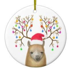merry christmas alpaca ornament zazzle