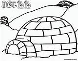Igloo Coloring Pages Print sketch template