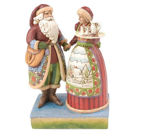 jim shore heartwood creek mr mrs claus figurine qvc com