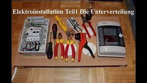 Fi Schalter Anklemmen : elektroinstallation teil1 die unterverteilung neu youtube ~ A.2002-acura-tl-radio.info Haus und Dekorationen