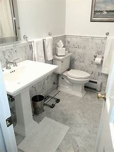 Classic white marble tile traditional bathroom dc for Marble bathroom tiles uk