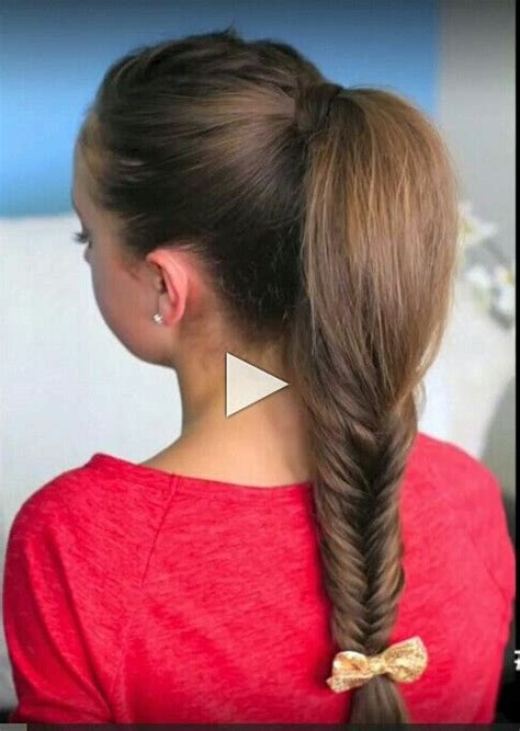 zendaya coleman replay fish tail braid   ponytail