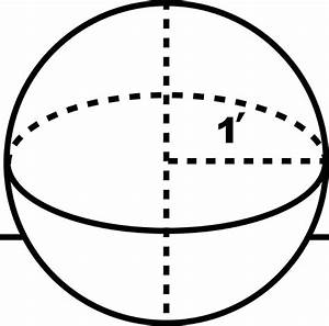 Sphere With A Radius Of 1 Foot