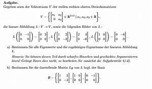 Eigenwerte Einer Matrix Berechnen : rechten vektorraum der reellen rechten oberen dreiecksmatrizen eigenwerte r ume basis ~ Themetempest.com Abrechnung